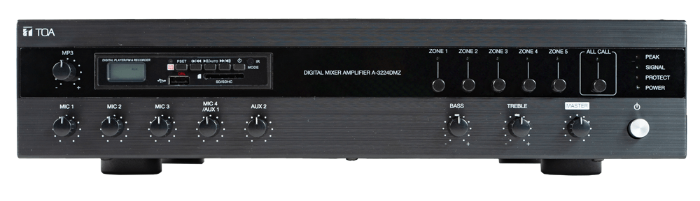 A-3212DMZ Digital Mixer Amplifier with MP3 and Zones