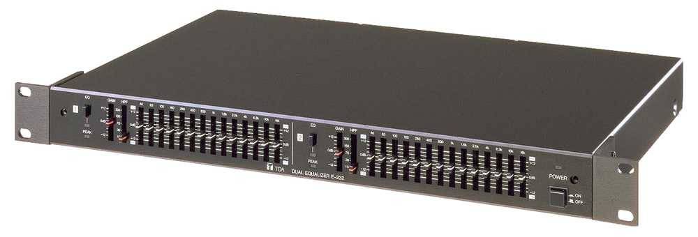 E-232 2-Channel 2/3 Octave Graphic Equalizer